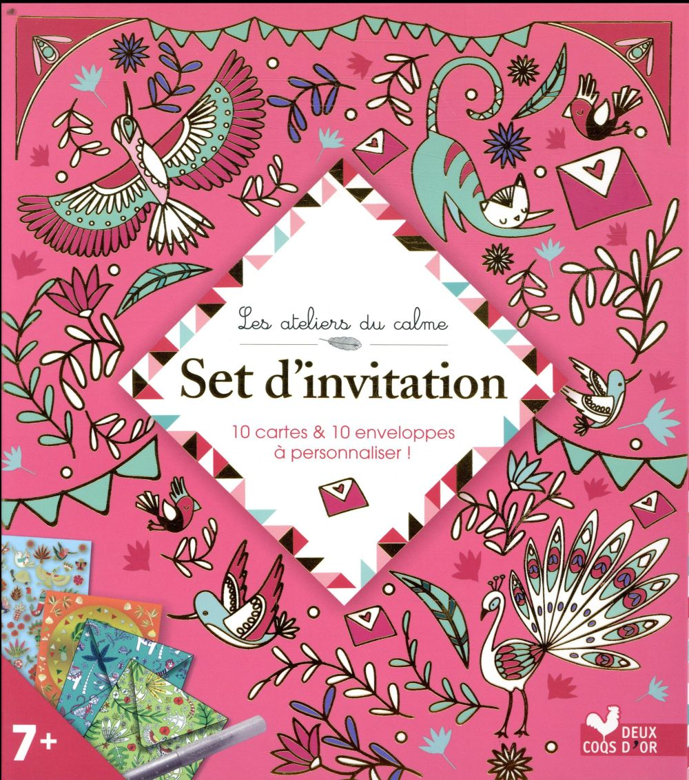 SET D'INVITATION - BOITE CREATIVE PAGE ALICE HACHETTE